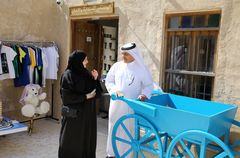 NAMA officials visit Al Wakra market to check the progress of its incubated small and medium-sized projects
